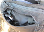 front zippered compartment<br>with dual slot pockets<br>and dual dummy cord loops<br>common to all Kit Bag Types